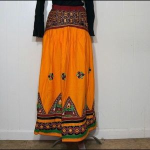 Vintage NWOT Indian Skirt / Dress Shisha Mirrors
